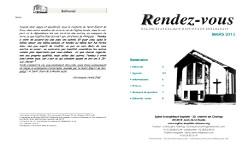 Programme de l'Eglise